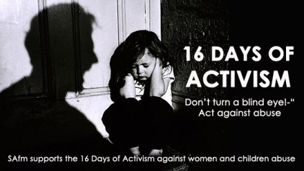 16 days of activism against violence women and children