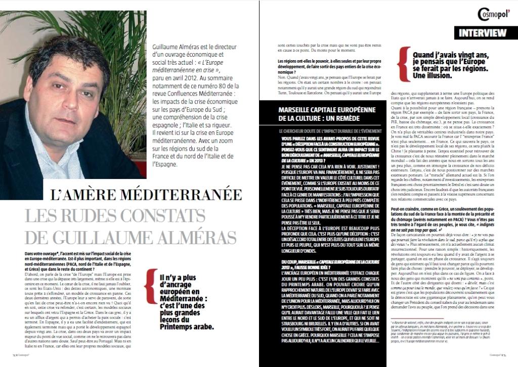 Retrouvez l'interview dans le premier numéro de Cosmopol, le magazine du Master de Journalisme de Sciences Po AIx