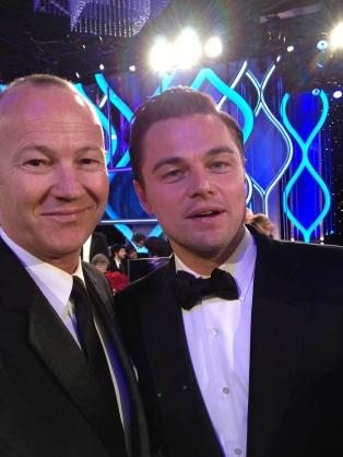 Laurent Morlet et Leonardo DiCaprio aux Golden Globes 2013 © Lionel Vanhersel