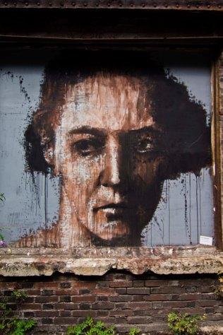 Guy Denning (Portrait d'Irène Joliot-Curie. Spray) // Photo: © Mélina Huet