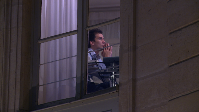 """Gaspard Gantzer à l'Elysée. Capture d'écran du documentaire """"Un temps de Président"""""""